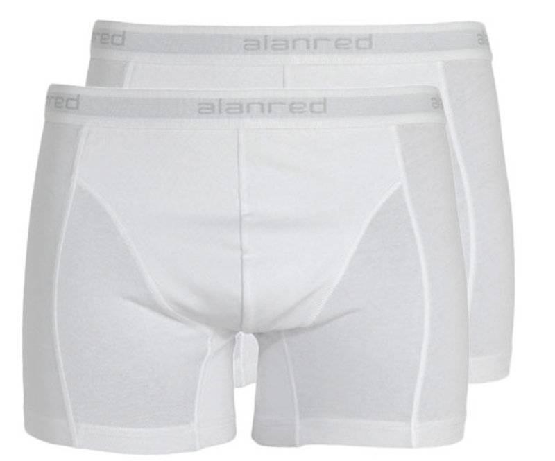 Alan Red Boxershort 2-pack Wit L