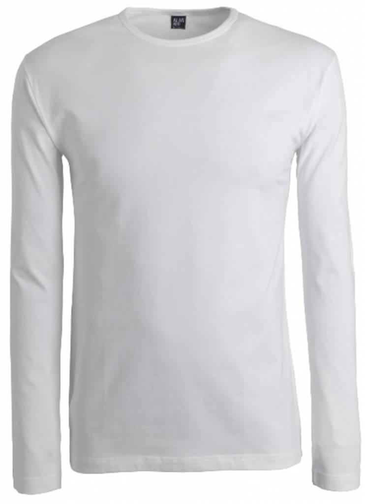 Alan Red Lange Mouw T-shirt Olbia 1pack Stretch Ronde Hals Wit S