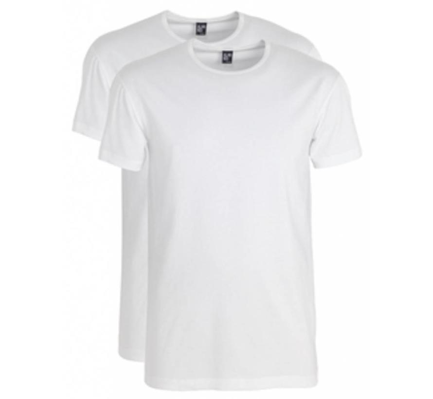 T-shirt Ottowa 2-pack Stretch Ronde Hals Wit (6680)