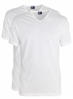 Alan Red T-shirt Vermont 2pack V-hals wit (6671)