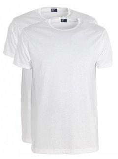 Alan Red T-shirt Derby 2Pack Ronde Hals Wit (6672)