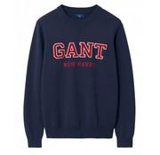 Gant trui regular fit navy (800071 - 410)
