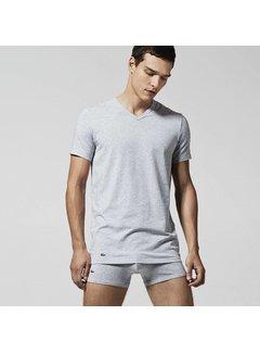 Lacoste v-hals t-shirt 2-pack grijs (148322 - 202N)