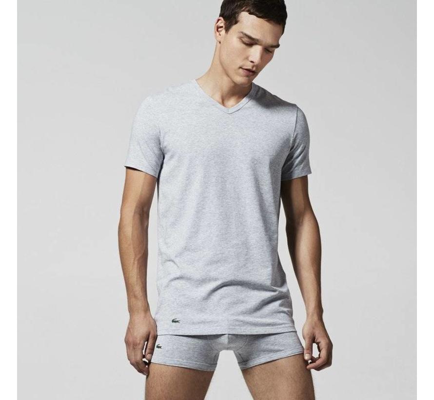 v-hals t-shirt 2-pack grijs (148322 - 202N)