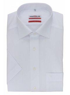Marvelis strijkvrij overhemd korte mouw modern fit wit (4700-12-00N)