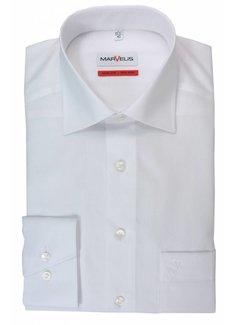 Marvelis strijkvrij overhemd Comfort Fit Mouwlengte 7 uni wit (7973-69-00N)