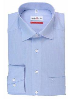 Marvelis strijkvrij overhemd Comfort Fit Mouwlengte 7 uni lichtblauw (7959-69-11N)