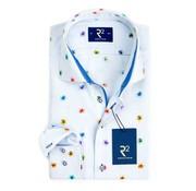 R2 Amsterdam overhemd Extra mouwlengte print multicolor (101.WSP.XLS.23 - 073)