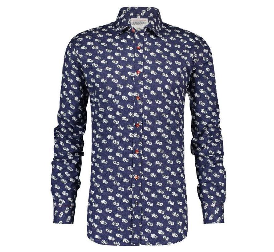 overhemd dices Blauw  (84.005)