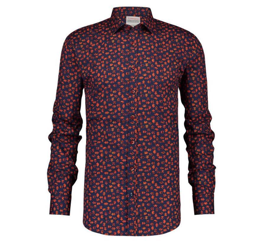 overhemd Puzzle Rood (84.008)