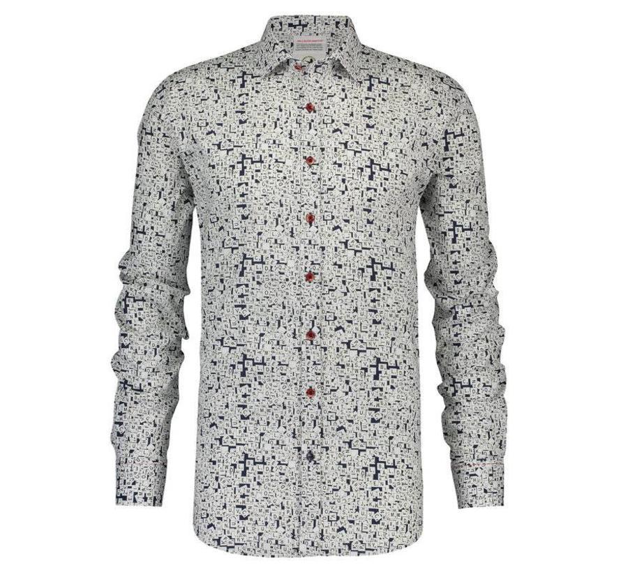overhemd scrable Blauw (84.006)