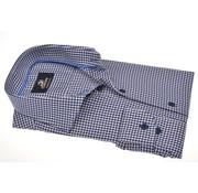 Culture overhemd modern fit print Blauw  (513799 - 48)