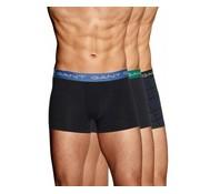 Gant boxershort 3pack Trunk Blackwatch Zwart (901833143 - 5)