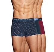 Gant boxershort 3pack Trunk Polka dot Multicolor (901833113 - 405)