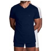 Gant v-hals t-shirt 2pack wit/navy (2118 - 109)