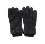 Greve leren handschoenen Nappa zwart (9721.01)