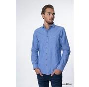 Haze & Finn overhemd Chambrey Azurro blauw (MC10-0102-2)