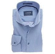 Ledub overhemd tailored fit Extra Mouwlengte print blauw (0137350-140-160-119)