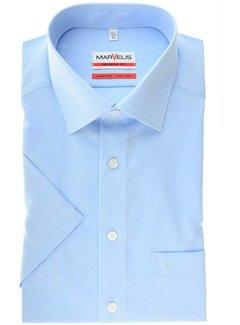 Marvelis strijkvrij overhemd korte mouw modern fit blauw (4704-12-11)
