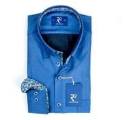 R2 Amsterdam overhemd blauw (100.HBD.03 - 014)