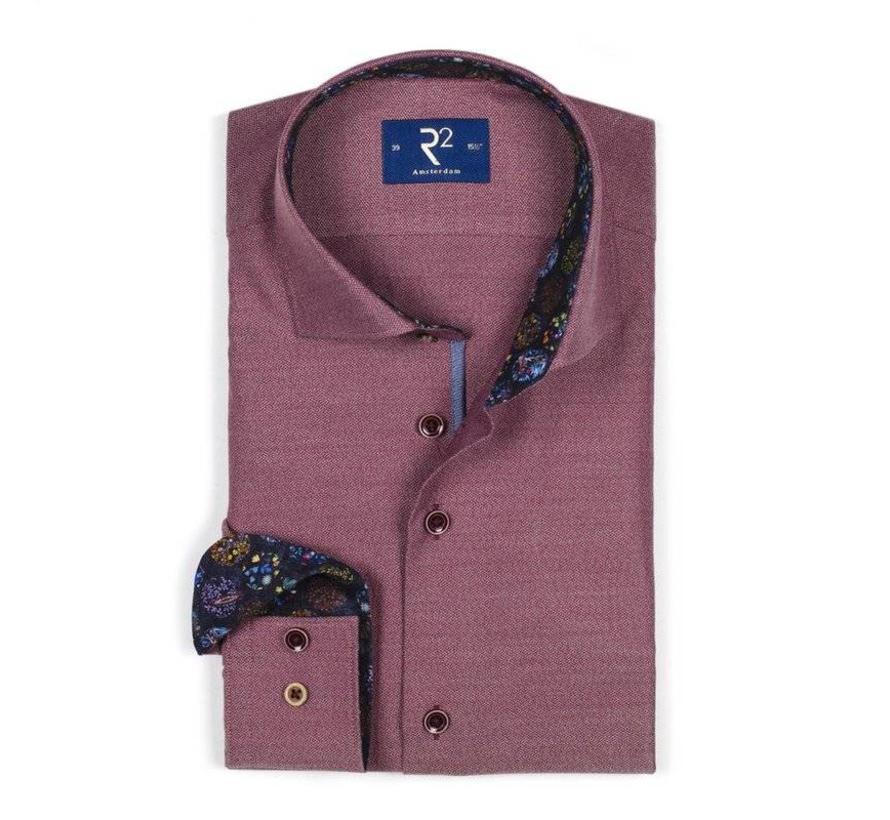 Bordeaux Overhemd.R2 Amsterdam Overhemd Bordeaux 103 Wsp 017 080 Nieuwnieuw Com