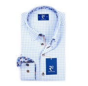 R2 Amsterdam overhemd ruit blauw (97.HBD.05 - 018)