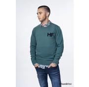 Haze & Finn pullover fashion logo bayberry groen (MC10-0203)