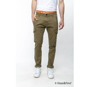 Haze & Finn broek Urban Cargo Slim fit Walnut (MU10-0510)