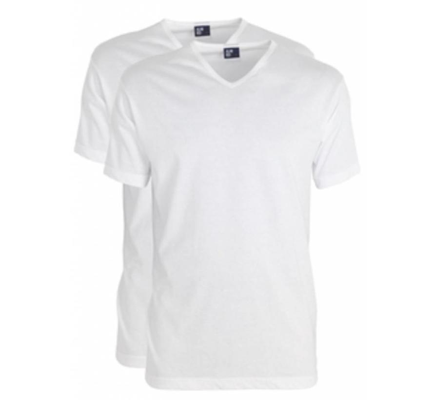 t-shirt Vermont 2 pack v-hals Extra lang + 5cm wit (5671N)