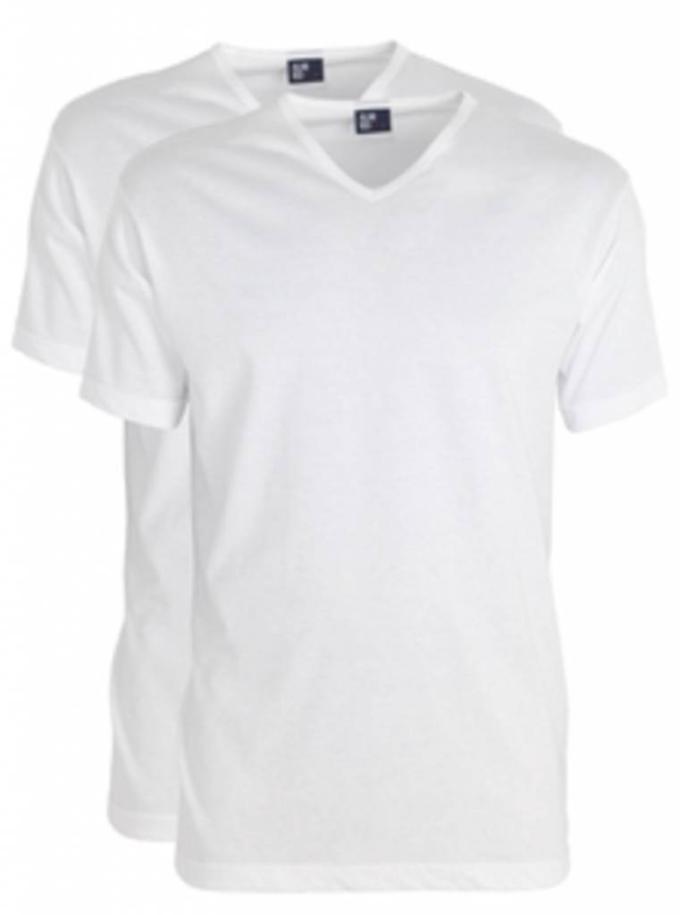 Alan Red Vermont Extra Lange T Shirts Wit (2Pack)