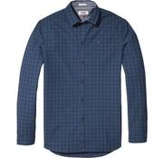 Tommy Hilfiger overhemd slim fit ruit blauw (DM0DM04985 - 904)