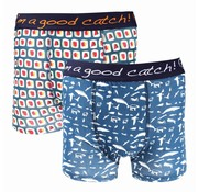A Fish named Fred 2pack boxershorts Multicolor (83.255)
