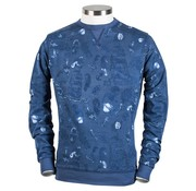 British Indigo sweater blauw print (7.81.322.001 - 60)