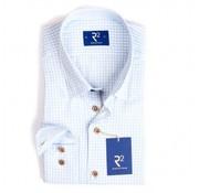 R2 Amsterdam overhemd ruit blauw (95.HBD.19 - 018)
