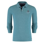 New Zealand Auckland lange mouw polo Marahau pine groen (18GN207 - 463)