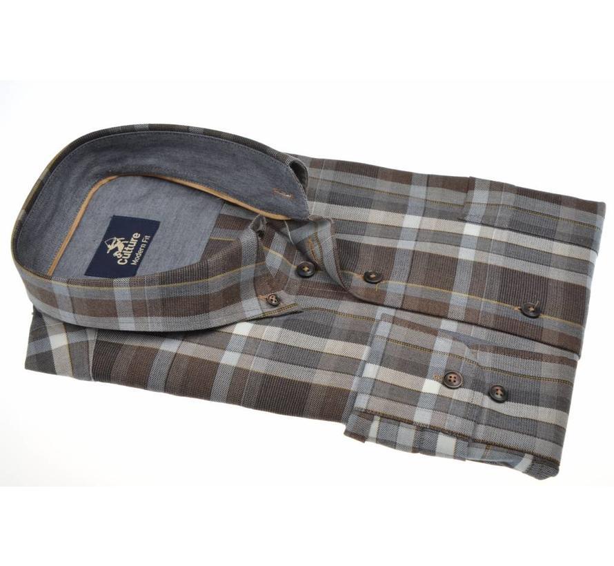 overhemd ruit modern fit (513668 - 45)
