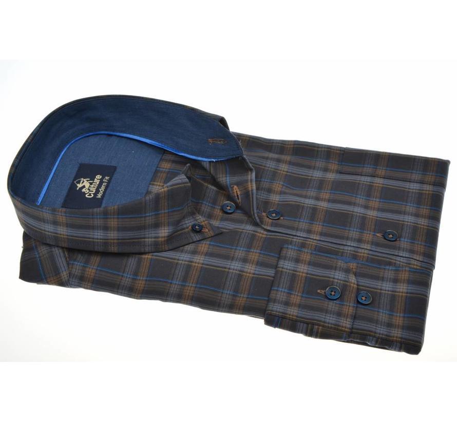 overhemd ruit modern fit (513670 - 46)