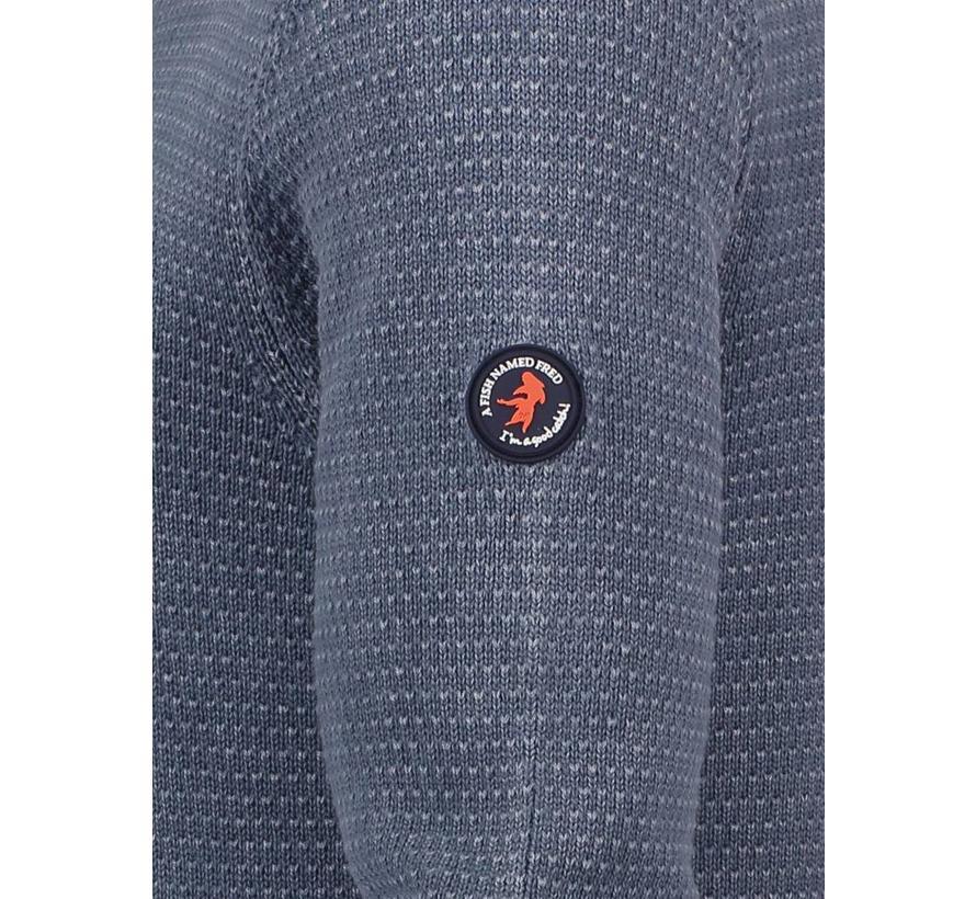 pullover garment dye Blauw (83.508)