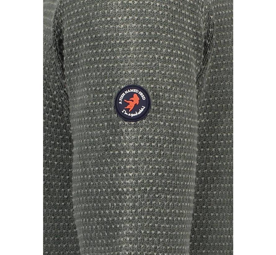 pullover garment dye Groen (83.511)