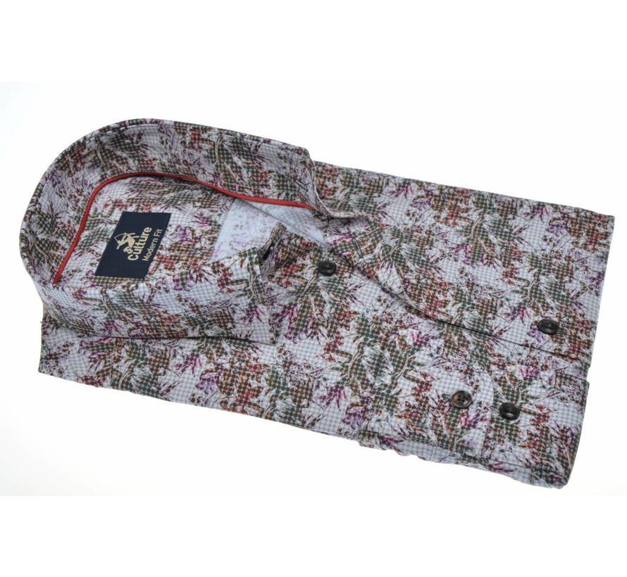 overhemd modern fit print (513743 - 41)