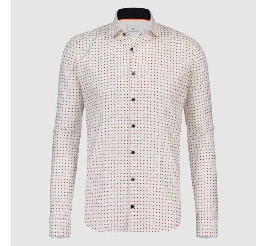 overhemd Wit met stip (1218.91)