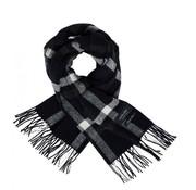 Scotch & Soda sjaal geblokt zwart (145651 - 0218)