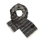 Scotch & Soda sjaal motief zwart (145646 - 0219)