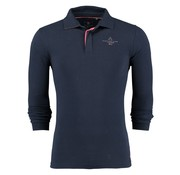 New Zealand Auckland Lange mouw Polo Man navy (18AN282 - 265)