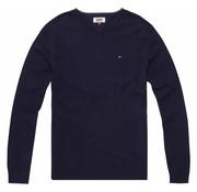Tommy Hilfiger pullover v-hals navy (DM0DM04402 - 002)
