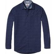 Tommy Hilfiger overhemd slim fit print navy (DM0DM04985 - 903)