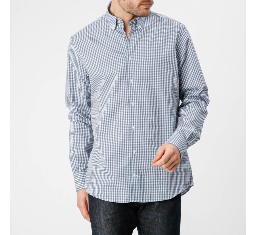 Tailored Fit Overhemd.Mcgregor Overhemd Stuart Crawley Tailored Fit Ruit Blauw 1000908