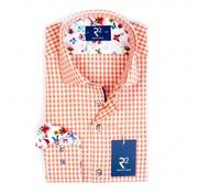 R2 Amsterdam overhemd ruit oranje (92.WSP.92 - 095)
