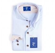 R2 Amsterdam overhemd print blauw (95.CA.02 - 018)