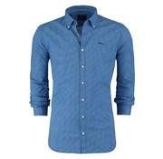 New Zealand Auckland overhemd Wainamu blauw (18AN513 - 310)